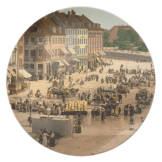 Cuadrado de Hochbrucke Copenhague Dinamarca Platos Para Fiestas