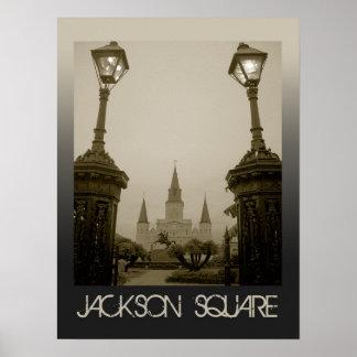 Cuadrado de Jackson, New Orleans, Luisiana Posters
