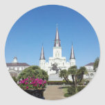 Cuadrado de Jackson, New Orleans Etiquetas Redondas