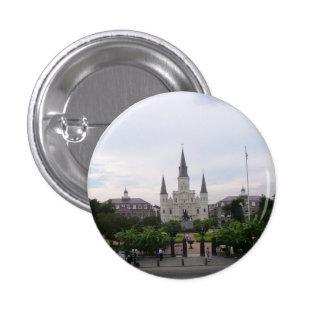 Cuadrado de Jackson, New Orleans Pin Redondo De 1 Pulgada