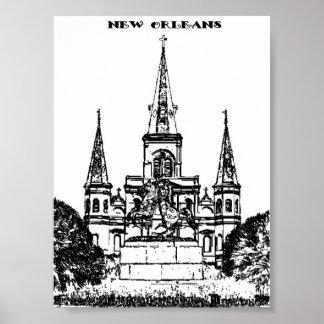 Cuadrado de Jackson, New Orleans Póster