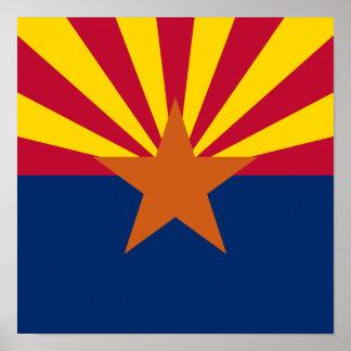 Cuadrado de la bandera de Arizona Póster