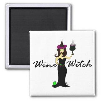 Cuadrado de la bruja del vino iman