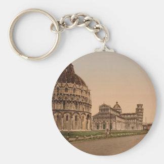 Cuadrado de la catedral, Pisa, Toscana, Italia Llavero Redondo Tipo Pin