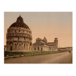 Cuadrado de la catedral, Pisa, Toscana, Italia Tarjetas Postales