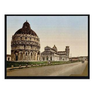 Cuadrado de la catedral, vintage Photochrom de Pis Tarjeta Postal