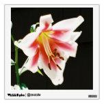 Cuadrado de la etiqueta de la pared de la flor