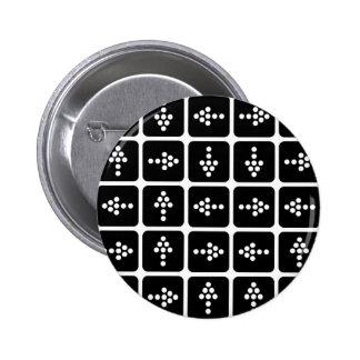 Cuadrado de la flecha del LED Pin Redondo De 2 Pulgadas