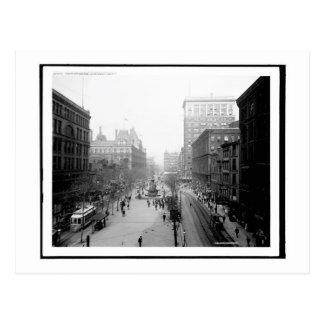 Cuadrado de la fuente, vintage de Cincinnati, Ohio Postal