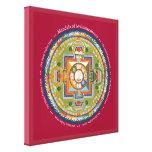 CUADRADO de la LONA - mandala de Chenrezig (compas Impresión En Lienzo Estirada