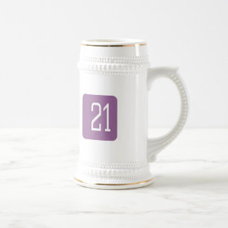 Cuadrado de la púrpura #21 jarra de cerveza