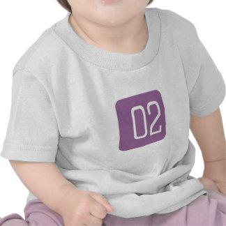 Cuadrado de la púrpura 2 camiseta