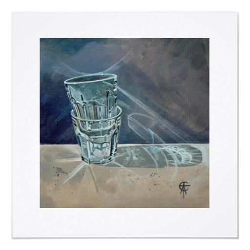 """Cuadrado de la tarjeta - """"transparente"""" (espacio invitación 13,3 cm x 13,3cm"""