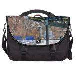 Cuadrado de la unión de NYC Nevado en invierno Bolsas Para Portatil