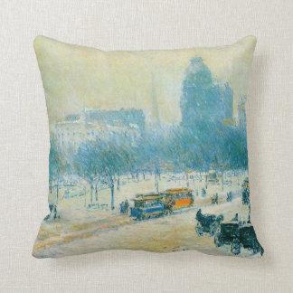 Cuadrado de la unión invierno impresionismo del almohada