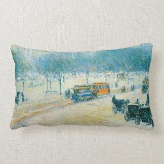Cuadrado de la unión invierno impresionismo del almohadas