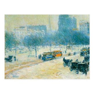 Cuadrado de la unión invierno impresionismo del tarjetas postales