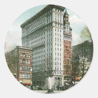 Cuadrado de la unión, Nueva York Pegatina Redonda