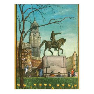 Cuadrado de la unión, Nueva York. Pintura del Postal