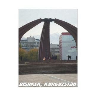 Cuadrado de la victoria, Bishkek Frunze Lienzo Envuelto Para Galerías