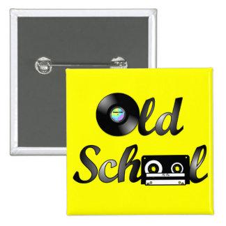 Cuadrado de los medios de la música de la escuela  pin cuadrada 5 cm