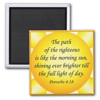 Cuadrado de los proverbios 4 18 B del imán del ver