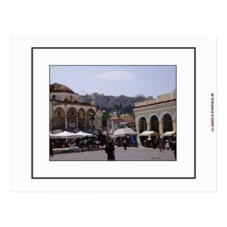 Cuadrado de Monasteraki en Atenas, Grecia Tarjetas Postales