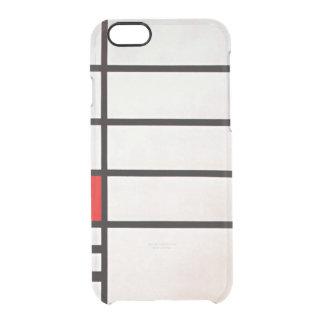 Cuadrado de Mondrian - de Trafalgar Funda Clearly™ Deflector Para iPhone 6 De Uncommon