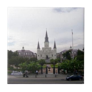 Cuadrado de New Orleans Jackson Azulejo Cuadrado Pequeño