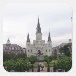 Cuadrado de New Orleans Jackson Pegatina Cuadrada