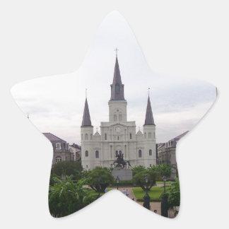 Cuadrado de New Orleans Jackson Pegatina En Forma De Estrella