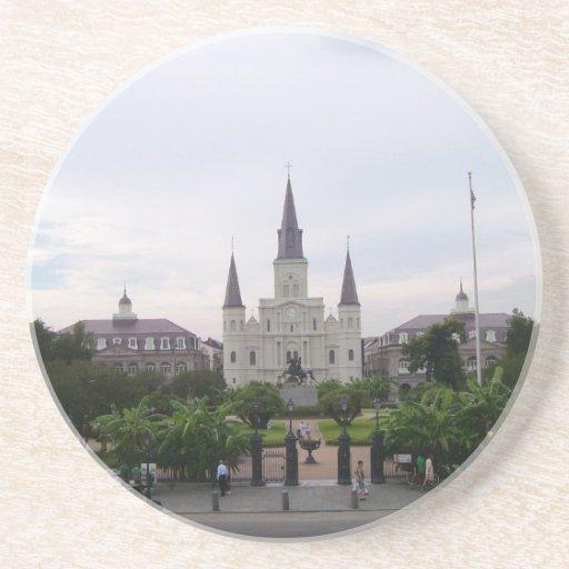 Cuadrado de New Orleans Jackson Posavasos Diseño