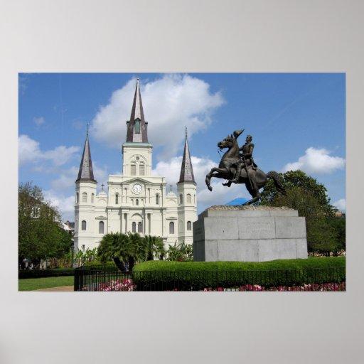 Cuadrado de New Orleans Jackson Poster