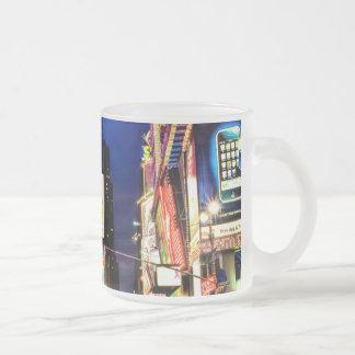 CUADRADO DE NEW YORK TIMES TAZA DE CAFÉ ESMERILADA
