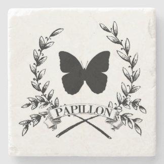Cuadrado de Papillon Posavasos De Piedra