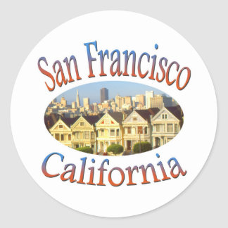 Cuadrado de San Francisco California Álamo Pegatina Redonda