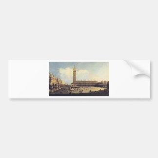 Cuadrado de San Marco de la torre de reloj que Pegatina Para Auto