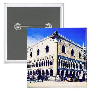 Cuadrado de San Marco, Venecia Pin Cuadrada 5 Cm