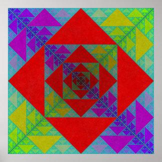 Cuadrado de Sierpinski Impresiones