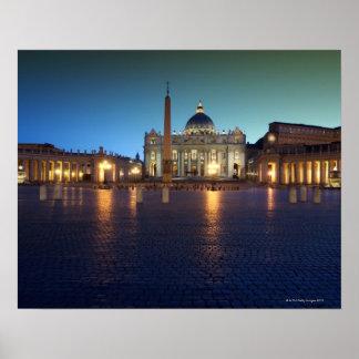 Cuadrado de St Peters, Roma, Italia Póster