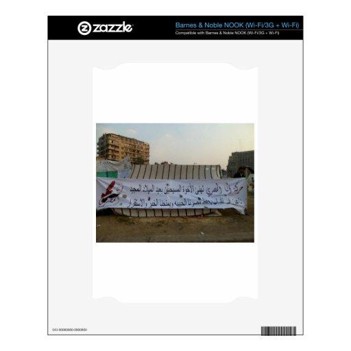 Cuadrado de Tahrir, Egipto Calcomanías Para NOOK