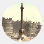 Cuadrado de Trafalgar I, Londres, Inglaterra Pegatinas Redondas