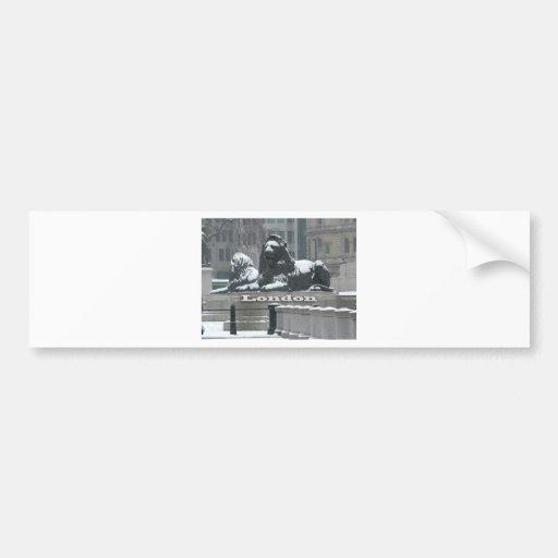 Cuadrado de Trafalgar Londres - nieve Pegatina Para Auto