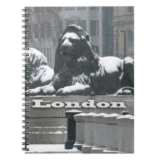 Cuadrado de Trafalgar Londres - nieve Libreta Espiral