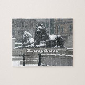 Cuadrado de Trafalgar Londres - nieve Rompecabeza