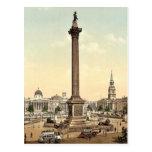Cuadrado de Trafalgar y National Gallery, Londres, Tarjeta Postal