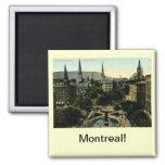 Cuadrado de Victoria, vintage de Montreal Iman Para Frigorífico