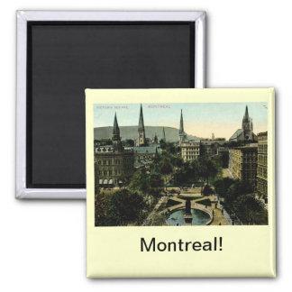 Cuadrado de Victoria, vintage de Montreal Imán Cuadrado