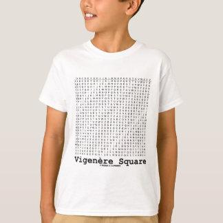 Cuadrado de Vigenère (criptografía Tabula Rasa) Playera