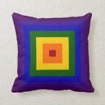 Cuadrado del arco iris almohada